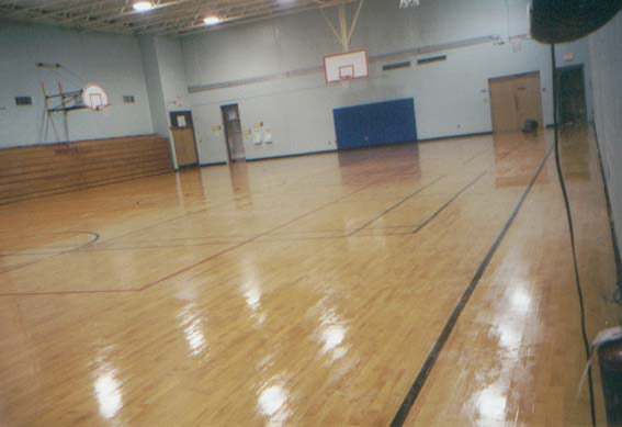 Ridgefield Academy gym after1. redding wood after2. wood floor waxing - CT Wood Floor Waxing New England Wood Floor Waxing